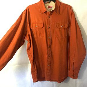 Wrangler Burnt Orange Long Sleeve Button Up Shirt